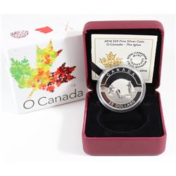 2014 $25 O Canada - The Igloo Fine Silver Coin (TAX Exempt)