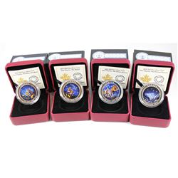 Estate Lot of 4x 2015 Canada $25 Star Charts Series Fine Silver Coins. You will receive The Great As