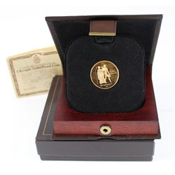 1976 Canada $100 Montreal Olympics 22k Commemorative Gold Coin in Original Display Box, COA & Outer