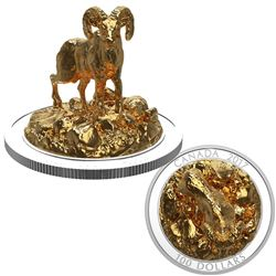 2017 $100 Sculpture of Majestic Canadian Animals - Bighorn Sheep Fine Silver Coin (TAX Exempt)