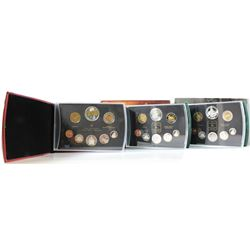 2003, 2004 & 2005 Canada Proof sets (some coins are toned). 3pcs