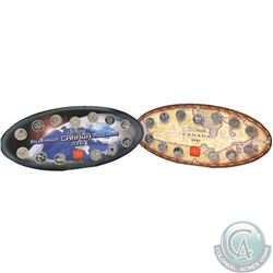 1999 & 2000 Nestle Official RCM Commemorative Oval Shaped Display holder with Coins and Token. Some