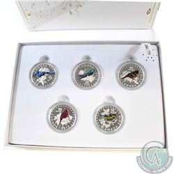 2015 Canada $10 Colourful Songbirds of Canada Fine Silver 5-coin Set with Deluxe Box (TAX Exempt)