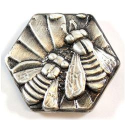 Limited Mintage! Beaver Bullion 4oz Fine Silver 'Bee Hive' Art Bar (Tax Exempt)