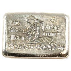 Beaver Bullion 3oz Fine Silver Bar (Tax Exempt)