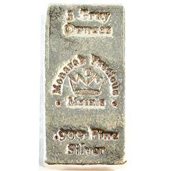 Monarch Precious Metals 5oz Fine Silver Bar (Tax Exempt)