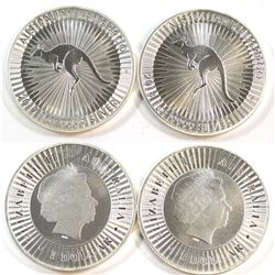 2017 & 2018 Australia $1 Kangaroo 1oz Fine Silver Coins (Tax Exempt) 2pcs