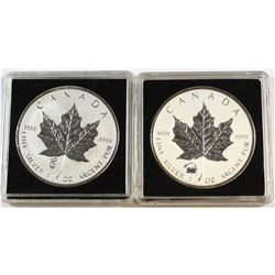2012 Canada $5 Titanic Privy & 2013 Canada $5 Snake Privy Fine Silver Maple Leafs (Tax Exempt). 2pcs
