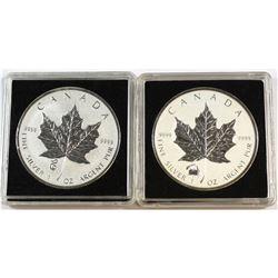 2012 Canada $5 Titanic Privy & 2013 Canada $5 Snake Privy Fine Silver Maple Leafs (Tax Exempt). 2pcs