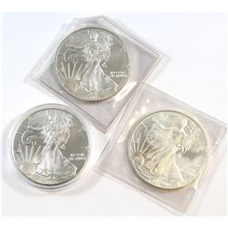 1997-2016 United States 1oz  Silver Eagles (Tax Exempt). You will receive 1997, 2003, and 2016. Plea
