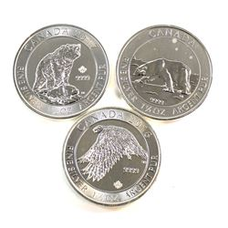 2013-2016 Canada $8 1.5 oz. Fine Silver Collection (Tax Exempt). You will receive the 2013 Polar Bea