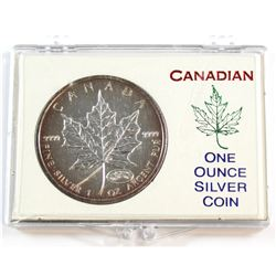 1999-2000 Double Dated Fireworks Privy Mark Silver Maple Leaf (TAX Exempt)