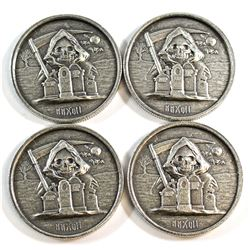 2017 Grim Reaper Ultra High Relief 1oz. Silver Rounds (Tax Exempt) 4pcs.