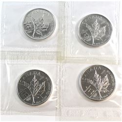 2008 Canada $5 Olympic 1oz Fine Silver Coins Sealed in Original RCM Wrap (Tax Exempt) 4pcs.