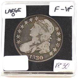 "1830 United States Large ""O"" 50-cent F-VF (F-15)"