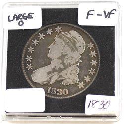 "1830 United States Large ""O"" 50-cent F-VF (F-15)"