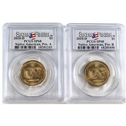 2010-D USA Native American Dollar Position A & B PCGS Certified SP-68. 2pcs