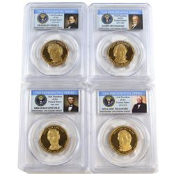 Lot of 2010-S USA Presidential Dollars PCGS Certified PR-69 Deep Cameo: Abraham Lincoln, Millard Fil