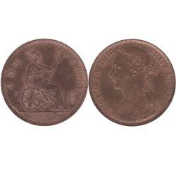 1887 Great Britain Penny AU-UNC