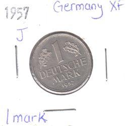 1957J Germany 1 Mark Extra Fine
