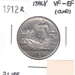 1912R Italy 2 Lire VF-EF (lightly cleaned)