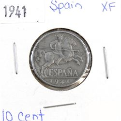 1941 Spain 10 Cent EF