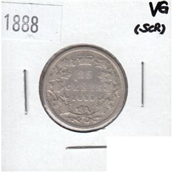 1888 Canada 25-cent VG (Scratched)