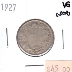 1927 Canada 25-cent VG (Scratched)