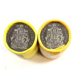2012 & 2013 Canada 50-cent Original Rolls. 2pcs.