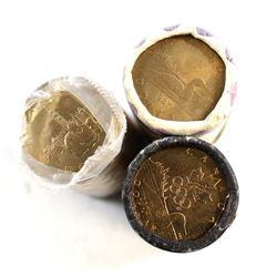 1987, 1992 Parliament, 2004 Olympic Canada Loon Original Rolls. 3pcs.