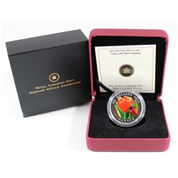 2011 Canada $20 Tulip with Venetian Glass Ladybug Fine Silver Coin (TAX Exempt). Please note the coi