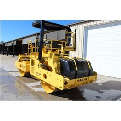 "2006 SAKAI SW800 ROLLER; VIN/SN:40161 - TANDEM, VIBRATORY, 66"" SMOOTH DRUMS, WATER SYSTEM, CANOPY, 4"