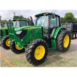2013 JOHN DEERE 6125M FARM TRACTOR; VIN/SN:768757 - MFWD, 3 PTH, PTO, 3 HYD. REMOTES, ECAB W/ AC, 18