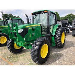 2014 JOHN DEERE 6105M FARM TRACTOR; VIN/SN:784724 - MFWD, 3 PTH, PTO, 3 HYD. REMOTES, ECAB W/ AC, 18