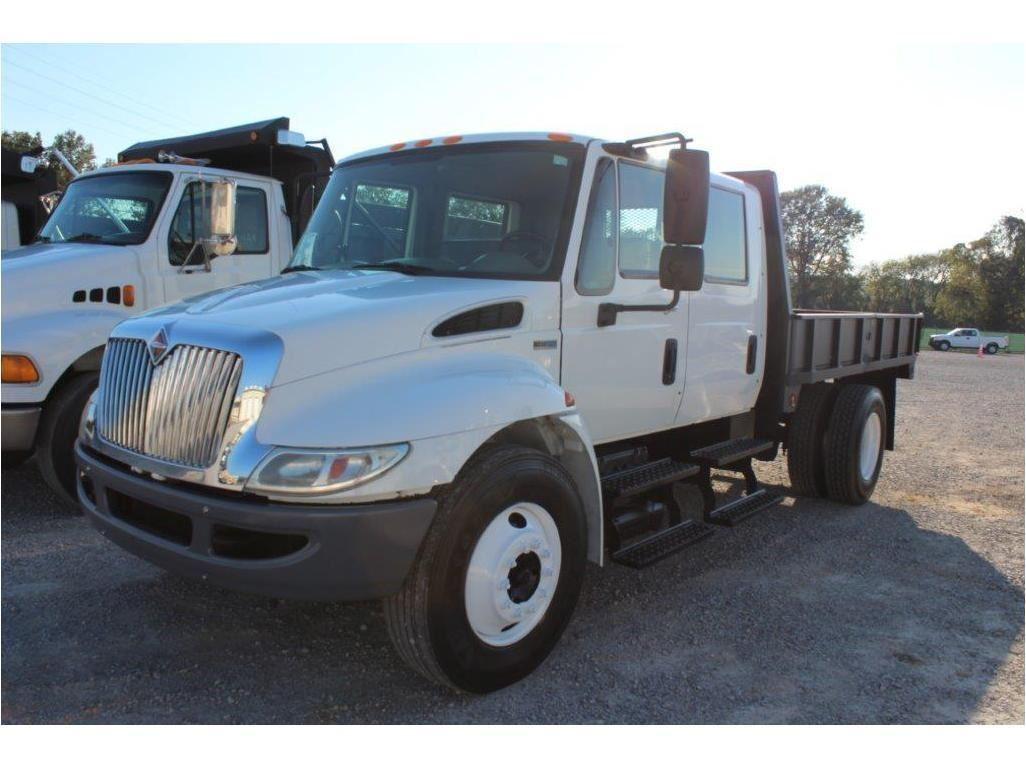 2011 INTERNATIONAL DURASTAR 4300 FLATBED DUMP TRUCK