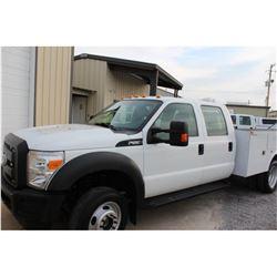 2012 FORD F550 SERVICE TRUCK; VIN/SN:1FD0W5HY7CEC70464 - 4X4, CREW CAB, V10 GAS, A/T, AC, OMAHA SERV