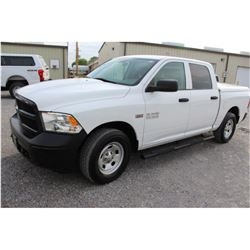 2015 DODGE 1500 PICKUP TRUCK; VIN/SN:3C6RR7KT4FG629642 - 4X4, CREW CAB, V8 GAS, A/T, AC, BED COVER,