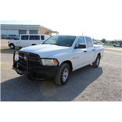 2015 DODGE 1500 PICKUP TRUCK; VIN/SN:3C6RR7KT2FG626447 - 4X4, CREW CAB, V8 GAS, A/T, AC, BED COVER,