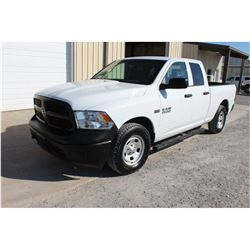 2015 DODGE 1500 PICKUP TRUCK; VIN/SN:1C6RR7FTXFS757757 - 4X4, EXT. CAB, V8 GAS, A/T, AC, 50,610 MILE