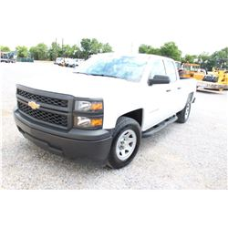 2015 CHEVROLET 1500 PICKUP TRUCK; VIN/SN:1GCRCPEC5FZ207627 - EXT. CAB, V8 GAS, A/T, AC, 52,665 MILES