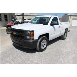 2015 CHEVROLET 1500 PICKUP TRUCK; VIN/SN:1GCNCPEH9FZ292398 - V6 GAS, A/T, AC, BED COVER, 78,922 MILE