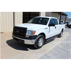 2014 FORD F150 PICKUP TRUCK; VIN/SN:1FTEX1CM9EFA85348 - EXT. CAB, V6 GAS, A/T, AC, 63,049 MILES