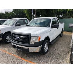 2014 FORD F150 PICKUP TRUCK; VIN/SN:1FTEX1CM5EFA85332 - EXT. CAB, V6 GAS, A/T, AC, 63,507 MILES