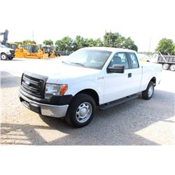 2014 FORD F150 PICKUP TRUCK; VIN/SN:1FTEX1CM2EFC09623 - EXT. CAB, V6 GAS, A/T, AC, BED COVER, 73,221