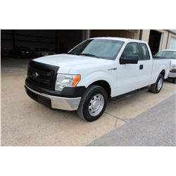 2014 FORD F150 PICKUP TRUCK; VIN/SN:1FTEX1CM1EFC09600 - EXT. CAB, V6 GAS, A/T, AC, 91,000 MILES