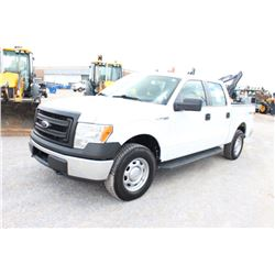 2013 FORD F150 PICKUP TRUCK; VIN/SN:1FTFW1EF2DKF06015 - 4X4, CREW CAB, V8 GAS, A/T, AC, 52,239 MILES