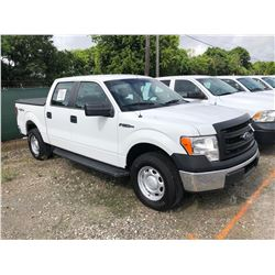 2013 FORD F150 PICKUP TRUCK; VIN/SN:1FTFW1EF5DKE67159 - 4X4, CREW CAB, V8 GAS, A/T, AC, BED COVER, 5