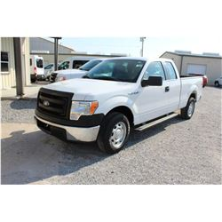 2013 FORD F150 PICKUP TRUCK; VIN/SN:1FTEX1CM4DFA75289 - EXT. CAB, V6 GAS, A/T, AC, 50,034 MILES
