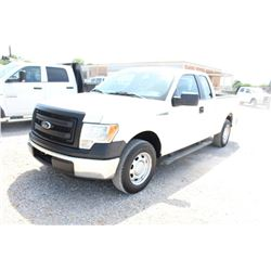 2013 FORD F150 PICKUP TRUCK; VIN/SN:1FTEX1CM2DKE99691 - EXT. CAB, V6 GAS, A/T, AC, 56,283 MILES