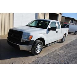 2013 FORD F150 PICKUP TRUCK; VIN/SN:1FTEX1CM9DKE99705 - EXT. CAB, V6 GAS, A/T, AC, 66,896 MILES